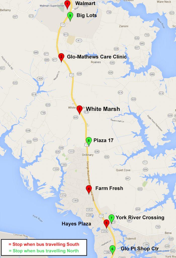Hayes Virginia Map.Gloucester Hiveexpress Bay Transit